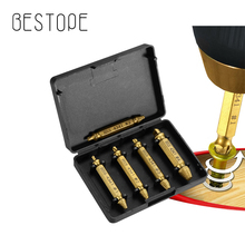Damaged Screw Extractor and Remover Tool Set 4 or 5 Pieces , S2 HSS 4341 Made from Premium  with Titanium Coating Broken Screw