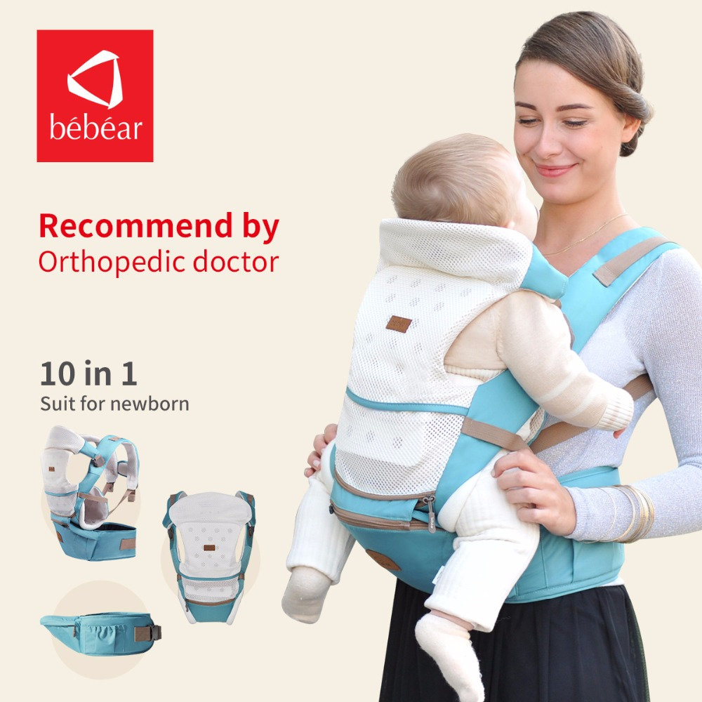 Bebear new hipseat for newborn and prevent o-type legs 6 in 1 carry style loading bear 20Kg Ergonomic baby carriers kid sling new infant backpack hip seat newborn prevent o type legs 4 in 1 carry style loading bear 20kg ergonomic baby carriers kid sling