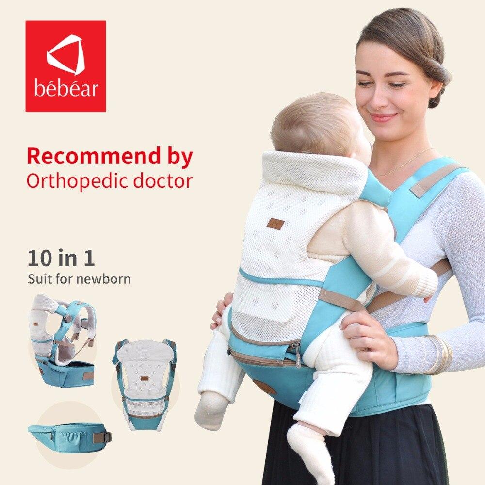 Bebear nuevo hipseat para el recién nacido y prevenir o-tipo piernas 6 en 1 Llevar estilo oso loading 20 kg ergonómico portabebés Honda cabrito