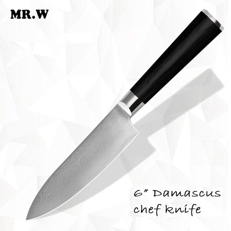 2016 New Arrival Brand Top Quality Damascus font b Knife b font 6 inch Chef font