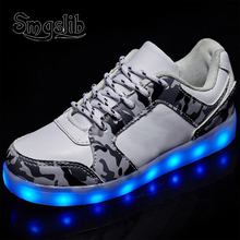 Usb Charging Basketball Sneaker Luminous Kids Boy Girls Glowing School Shoes 2018 Spring Autumn Led Children With Light Up