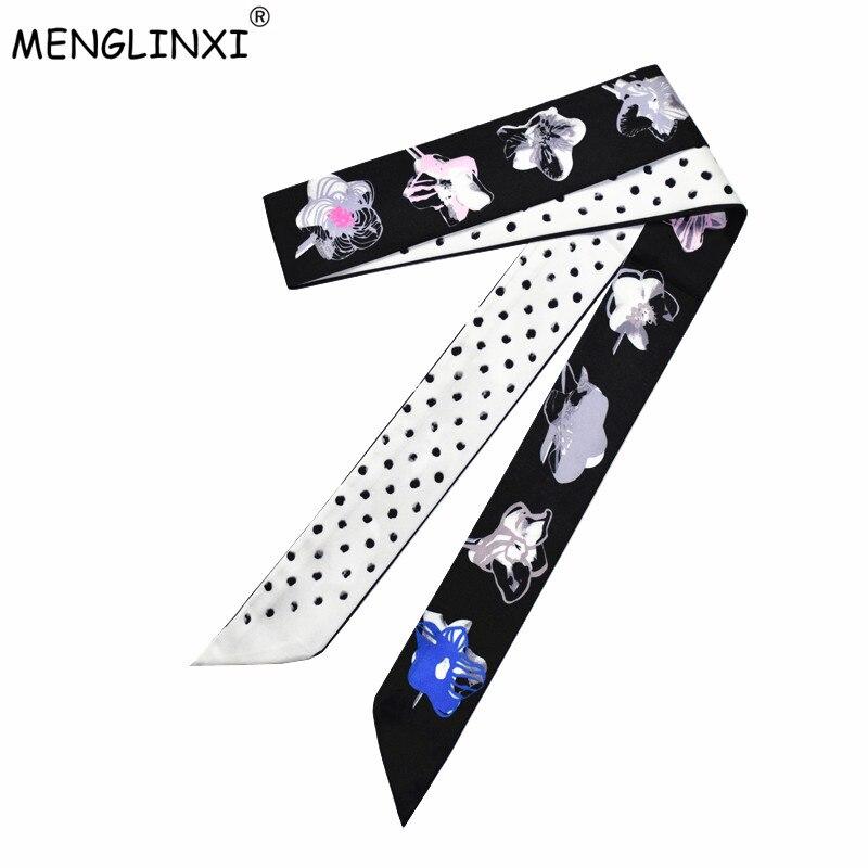 Clever 2019 Neue Design Luxus Marke Floral Dot Print Schal Frauen Silk Schal Mode Kopf Schal Tasche Bänder Kleine Lange Schals X203 Bekleidung Zubehör