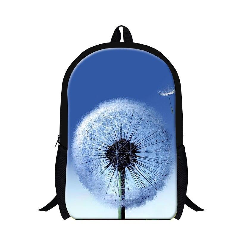 Мода 2016 года полиэстер Цветочный принт рюкзак для девочек, Одуванчик Роза завод патч ш ...