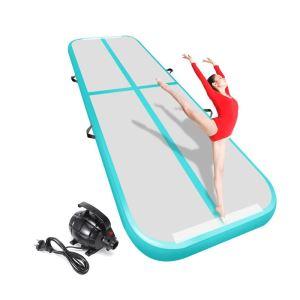 Livraison gratuite 6 m/7 m/8 m * 1 m * 0.2 m piste gonflable de gymnastique Airtrack pour enfants adultes une pompe électronique gratuite