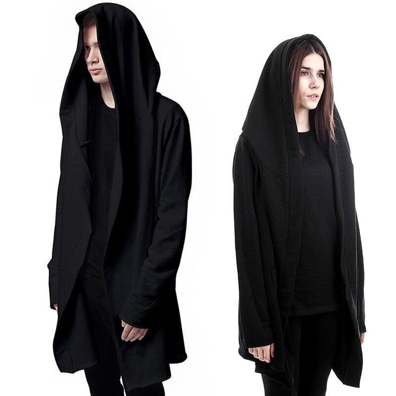 Оригинальный Дизайн Демисезонный бренд Для мужчинs толстовка Для мужчин капюшоном кардиган mantissas черный плащ верхняя одежда