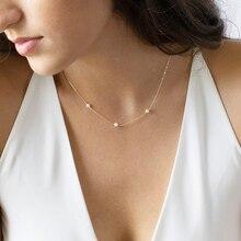 수제 천연 진주 목걸이 골드 채워진/925 실버 초커 펜던트 Boho Collier Femme Kolye Jewelry Boho Women Necklace