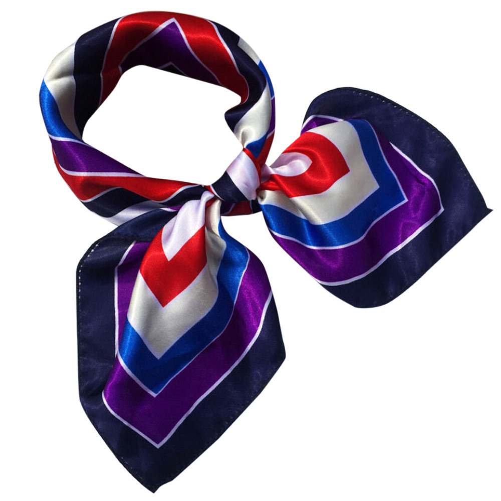 2019   Scarf   Fashion Women Square Head   Scarf     Wraps     Scarves   Ladies Printed Kerchief Neck   Scarf   Freeshipping 30p1022