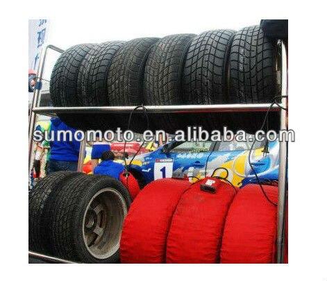 C6 digital aquecedores de pneus de Carro com caixa de controle de temperatura do termostato para o Carro de corrida pneus 4 fixo