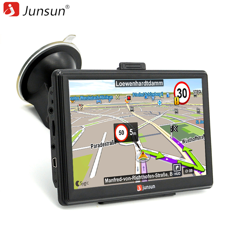 junsun 7 inch car gps navigation capacitive screen mp4 mp3 bluetooth avin fm 8gb vehicle truck. Black Bedroom Furniture Sets. Home Design Ideas