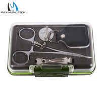Maximumcatch Fly Fishing Tool Kit with Waterproof Box Stream Accessory Forceps & Retractor & Nipper&Fly Box Flies