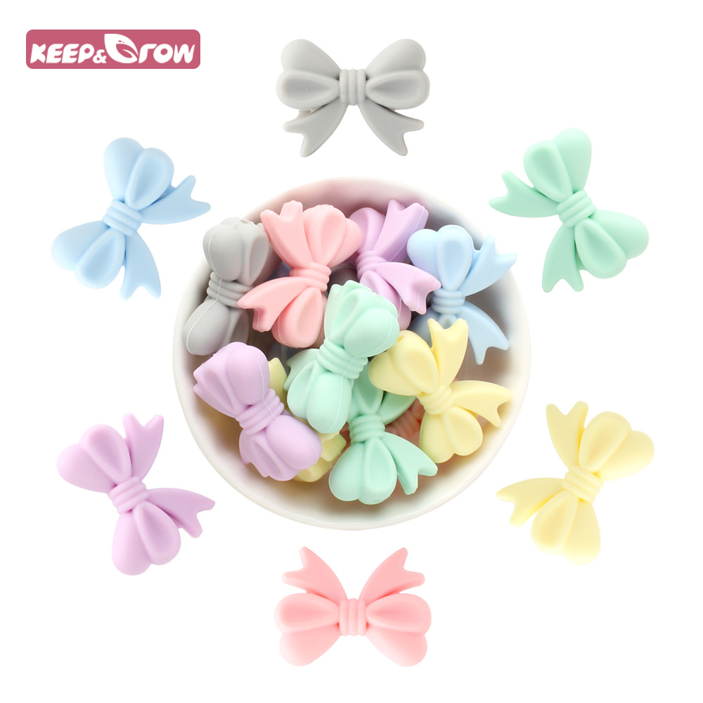 9pcs 25mm Butterfly Silicone Beads Food Grade Silicone Teether Beads Animal Baby Teething Beads BPA Free Baby Tooth Care