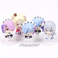 Anime Re Zero Kara Hajimeru Isekai Seikatsu Rem Ram Emilia Beatrice Mini PVC Figures Toys 5cm