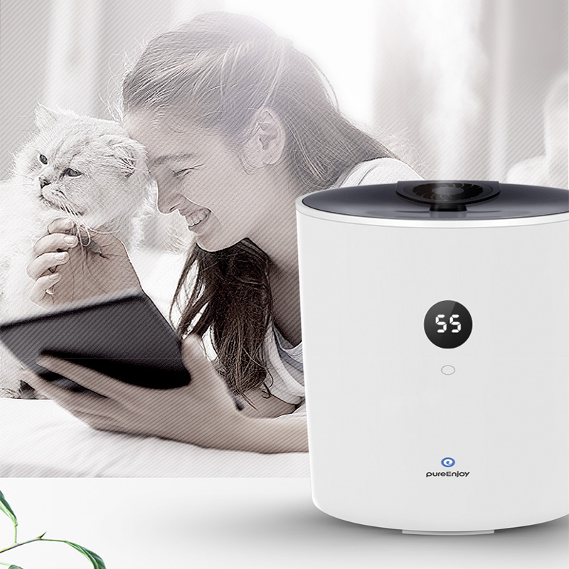 Household Intelligent Air Humidifier Pure Type Upper Water Addition Humidifier 4L Capacity 280ml/h Home Diffuser Air Purifier