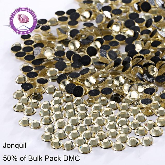 High Quality SS6-SS30 Jonquil DMC Hotfix Rhinestones For Clothing Accessories Iron On Flatback Stones