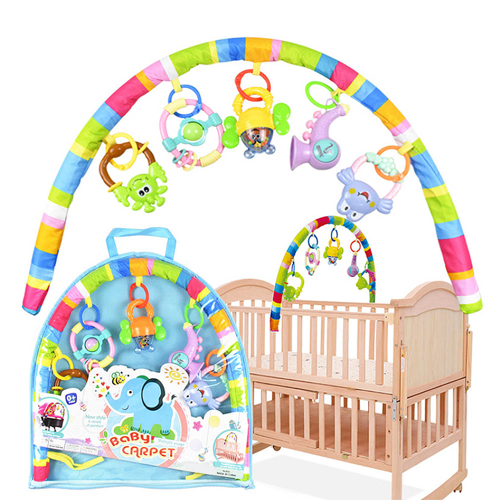 Bed Bell Baby Rattles Baby Stroller Hanging Toys Cot Winding Cradle Baby Play Bed Bell Pendant Rattles Mobile Detachable Bed Toy