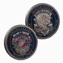 US Marine Corps Release The Dogs Of War Military Challenge Coin  American Coin Collections Metal Coin For Souvenir