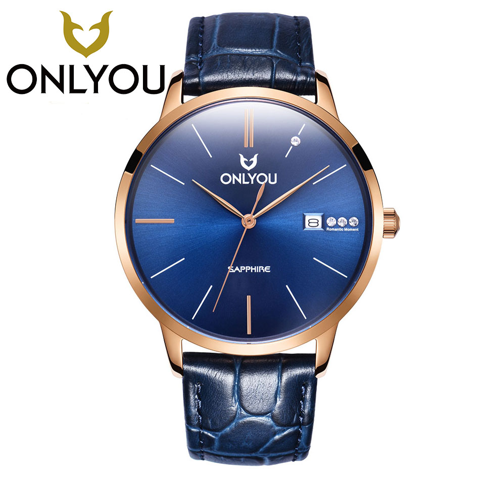 ONLYOU  Fashion Waterproof Sport Mens Watches Top Brand Luxury Quartz Watch Man 2017 Clock Male Hour Men's Watch Wholesale