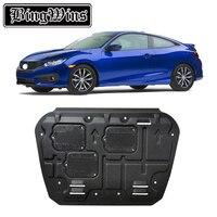 BINGWINS автомобиля для укладки для Honda Civic пластиковые стали защита двигателя для Civic 2016 2018 двигатель опорная плита крыло 1 шт.