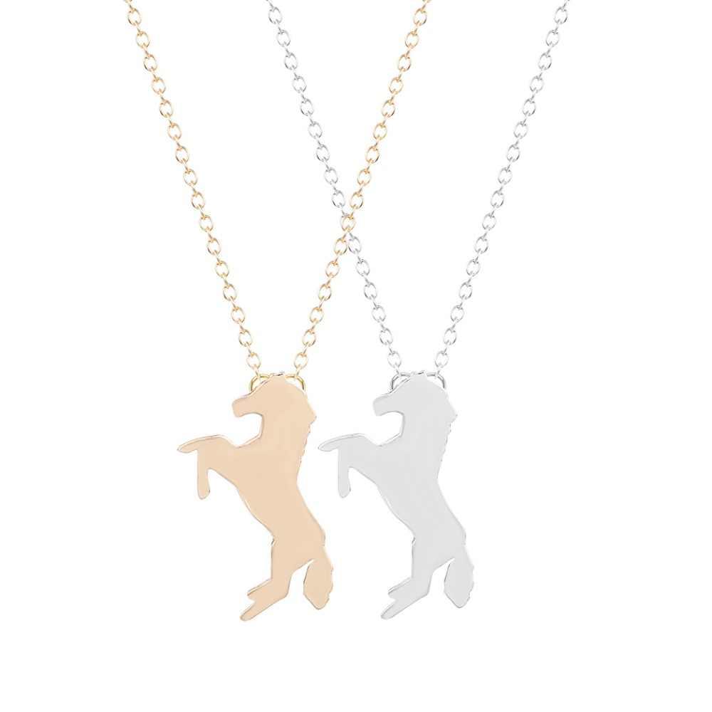 QIAMNI جديد نمط 30 قطعة/الوحدة الجملة فريد الحصان قلادة قلادة مجوهرات للنساء و الفتيات سلسلة قلادة