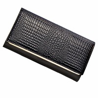 AOEO Hand Holdings Women Wallets Long Design With Phone Pocket 6 Color Black Gold Ladies Lock