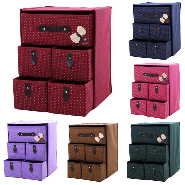 Us 24 42 55 Off Foldable Organizador Moisture Proof E Clothes Organizers 3 Layers 5 Drawer Diy Closet Organizer Storage Underwear In
