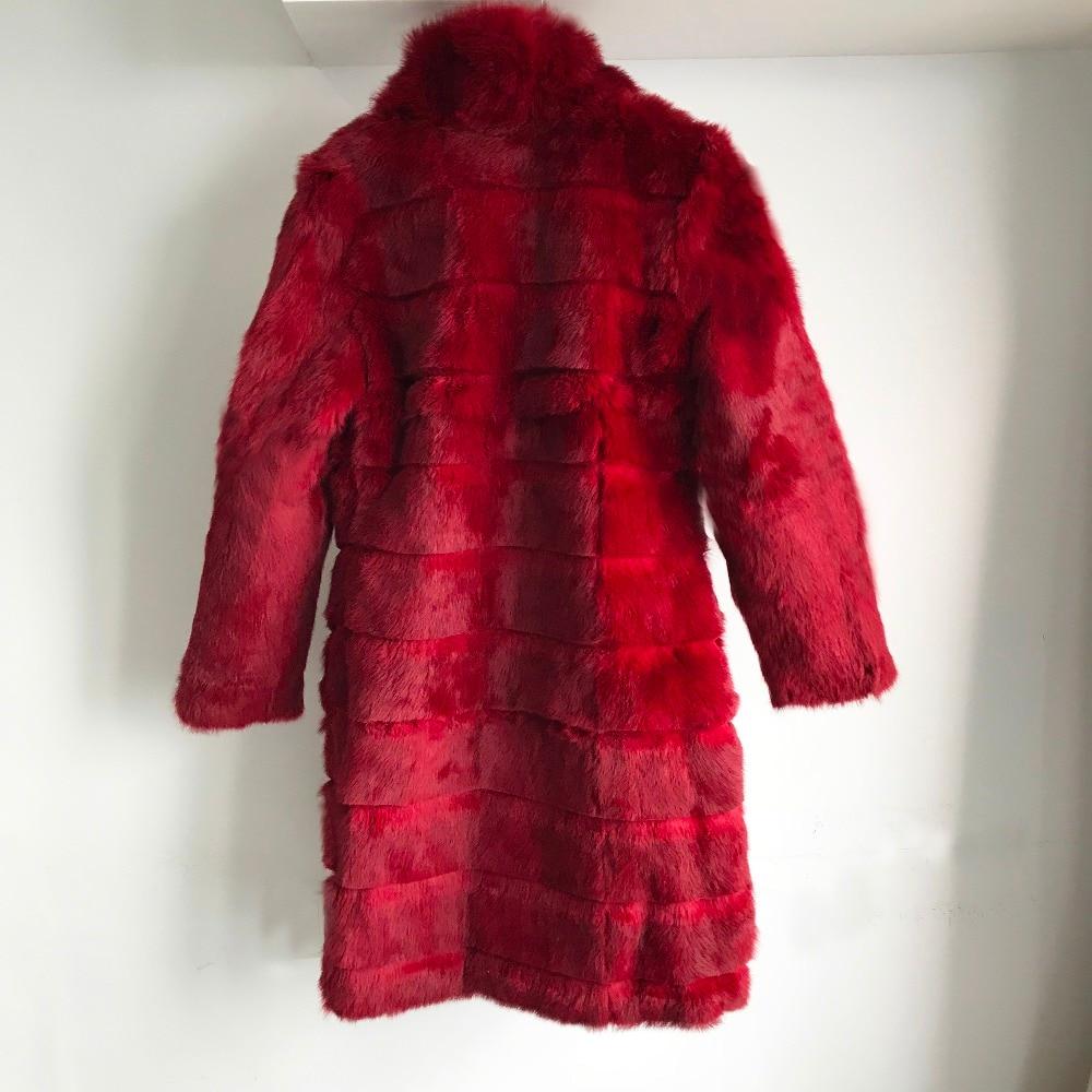 Vacances Pour Wsr456 Printemps De khaki Réel Nouveau Naturel black burgandy Pleine Sapphire Cut Lapin Manteau Pelt Cotas Femmes red Fourrure Veste Avec qYpOH76Oy