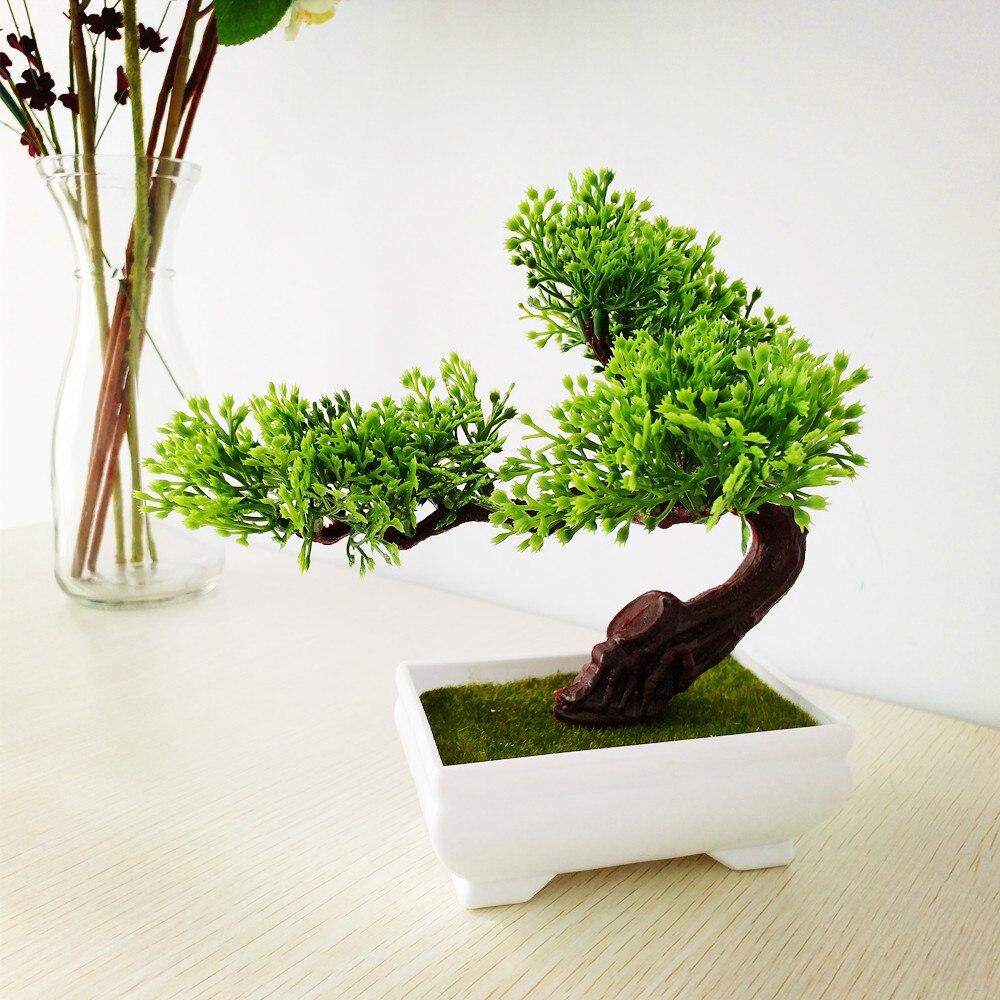 Artificial Pine Bonsai Árboles Decoración Floral Falsa Flowres Mini - Para fiestas y celebraciones