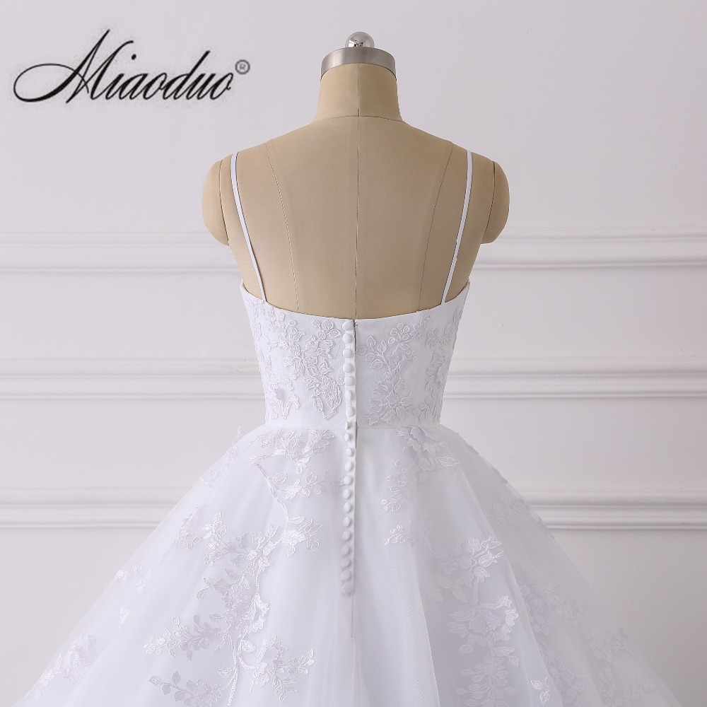 e54acfbd9b Elegant Lace Applique Ball Gown Wedding Dress 2019 Sexy Spaghetti ...