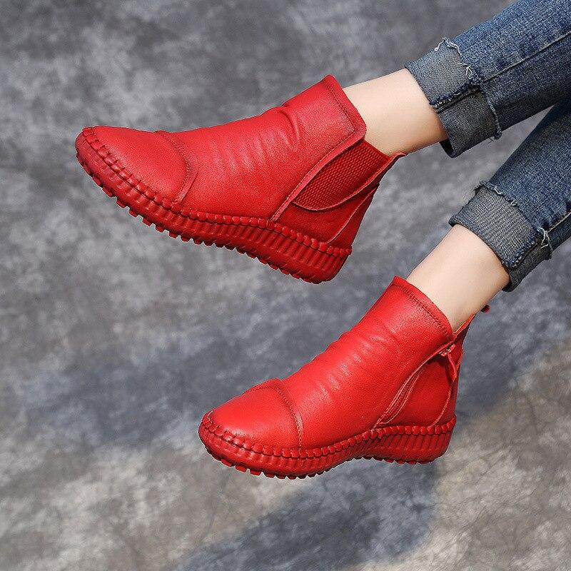 2017 automne et hiver nouvelles bottes en cuir à la main femmes shorts décontracté bottes nues en cuir bottes femmes