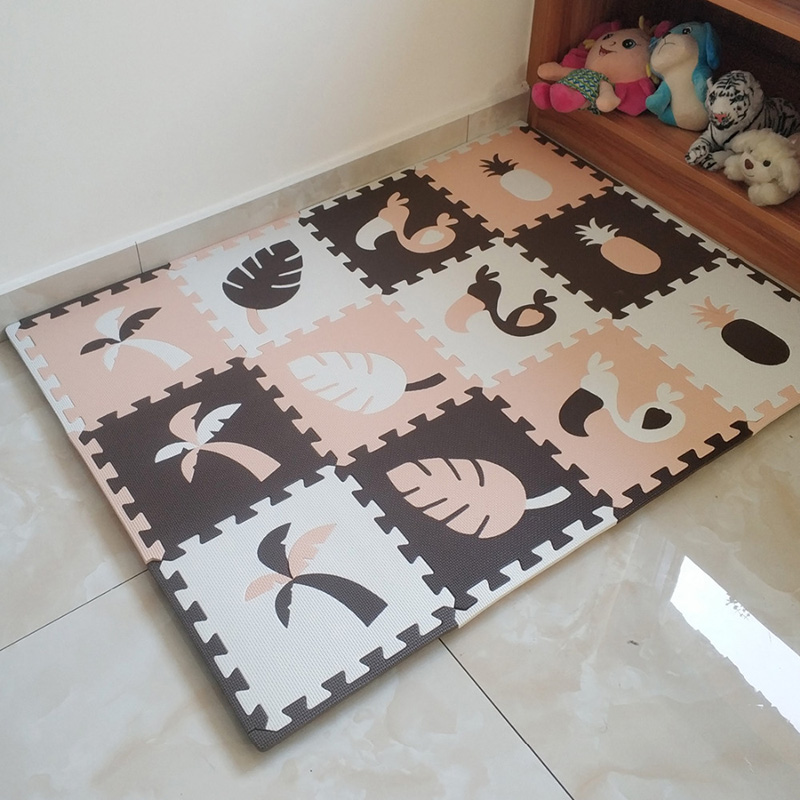 JCC 8/24pcs Toucan Style Baby EVA Foam Puzzle Play Mat /kids Rugs Carpet Interlocking Mat for Children Tiles 30*30*1cm