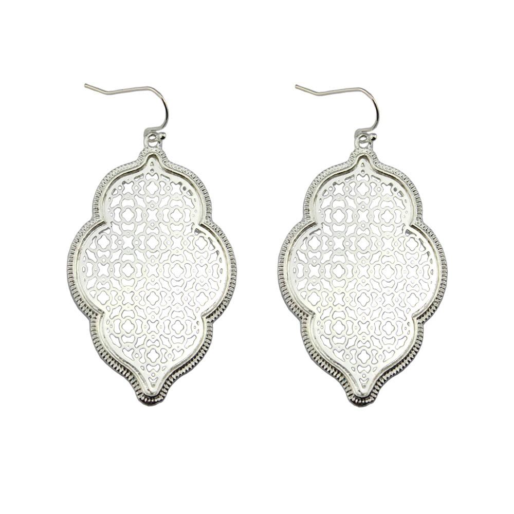 Two Tone Perak Filigree Maroko Earrings untuk Wanita 2018 Hot - Perhiasan fashion - Foto 2