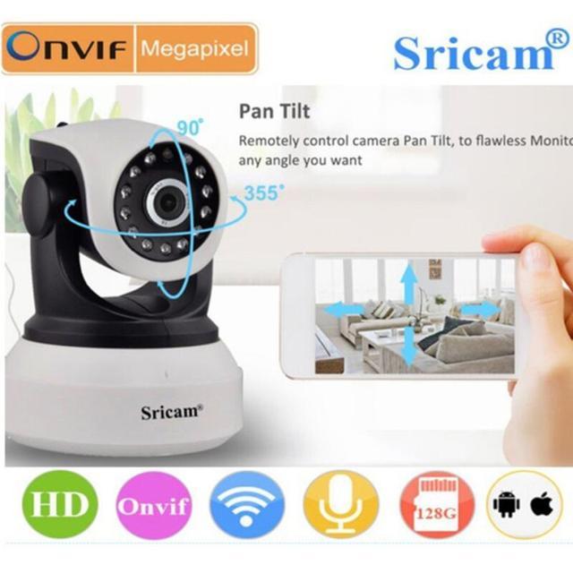 Original Sricam SP017 Wireless 720P IR-Cut Night Vision Camera P2P Baby Monitor Audio WIFI CCTV Onvif Indoor Security IP Camera