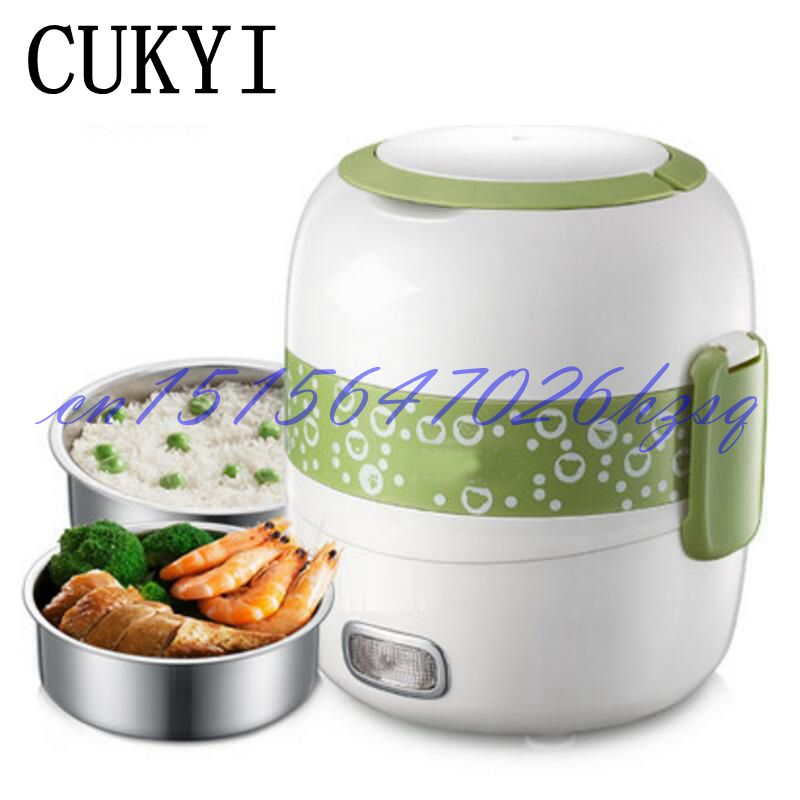CUKYI 270W Household Electric Rice machine Keep warm Double layers Multi-purpose Rice cooker cukyi household electric nonstick skillet 3 4 people small cooker korean multi purpose electric boiler 2 8l electric hot pot