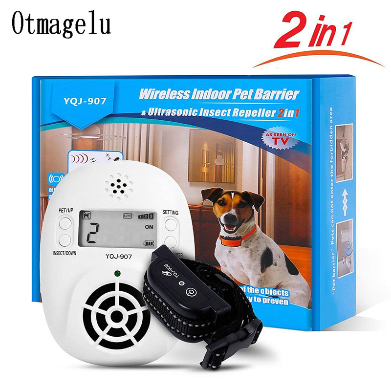 2 in 1 Wireless Electronic Pet Dog Fence Indoor Pet Barriers Management System with Pest Repellent