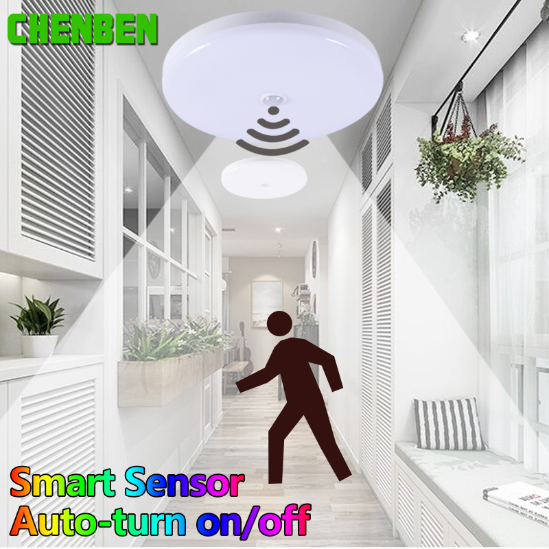 Modern LED Ceiling Light 12W 18W 220V Smart PIR Motion Sensor Light Ceiling Lamps Lighting Fixtures for Living room corridor in Ceiling Lights from Lights Lighting