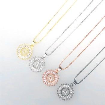 bbc7259f3473 ROMAD 26 alfabeto carta colgante inicial carta collar de Zirconia cúbica A-Z  inicial encanto gargantilla collar de cadena de joyería de las mujeres de R3