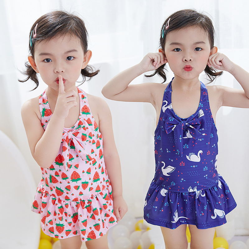 1-6 years 2018 summer hot new Baby Girls Print Swimsuit Children's Bathing Suit Baby Jumpsuit Girls One pieces swim cloth