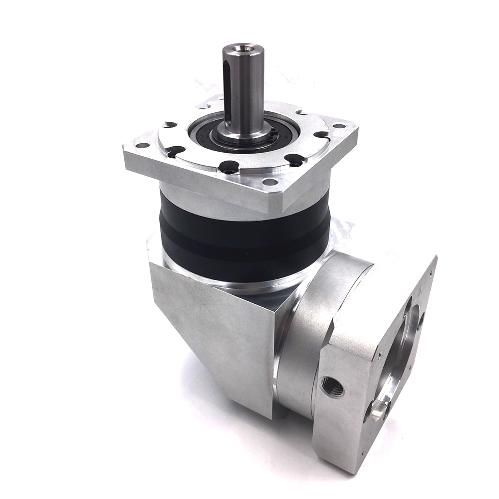 High Precision 110mm Right Angle Servo Reducer Ratio 4/5/7/10:1 3000rpm Speed Planetary gearbox reducer for NEMA44 Servo Motor цена