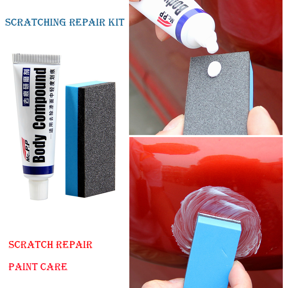 MOONBIFFY Car Body Compound Paste Set Scratch Paint Care Auto Polishing&Grinding Compound Car Paste Polish Care