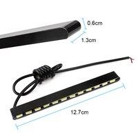 Автомобильный Стайлинг дневные ходовые огни Источник света SMD автомобиля DRL 7030 дневной светодио дный свет Светодиодные полосы 2 шт. 12 светодио дный LED s
