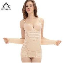 TOPMELON, послеродовой корсет для тела, корсет под грудь, Женский тренажер для талии, пояс для похудения, облегающий корректирующий ремень