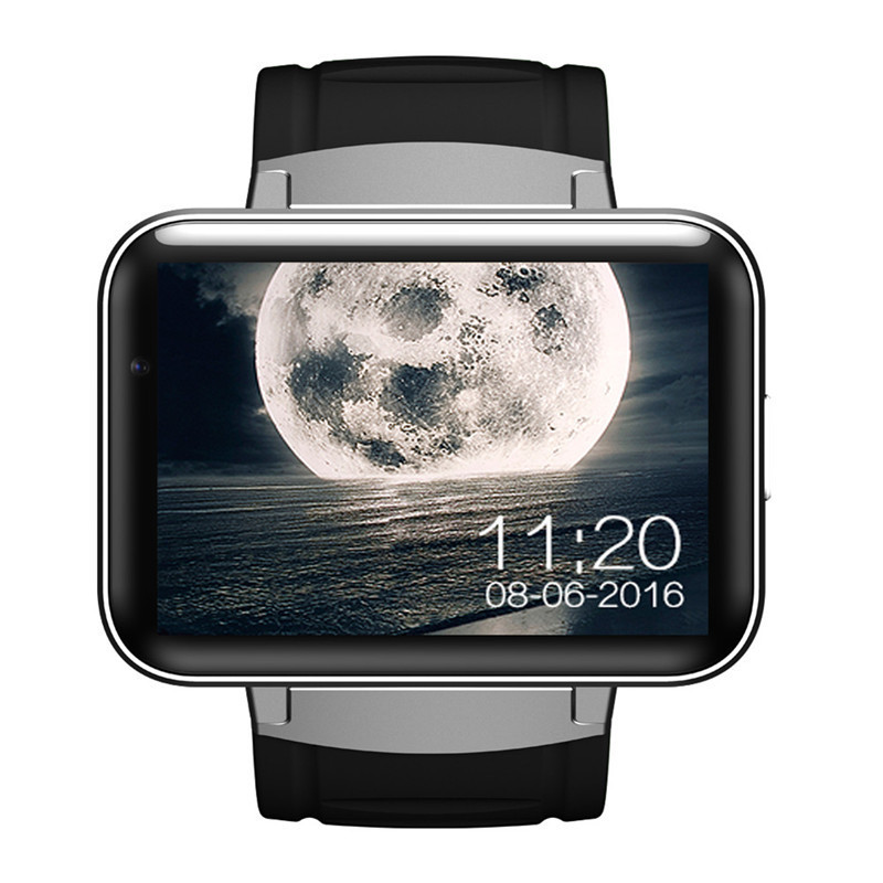 Gorgeous DM98 2.2 HD IPS Screen Smart Watch Heart Rate Activity Monitor Watch 1.3M HD Camera Dual Core WIFI 3G GPS SmartWatch heart rate monitor smart watch dual display 316l stainless steel hd round screen wristwatch support facebook whatsapp reminder
