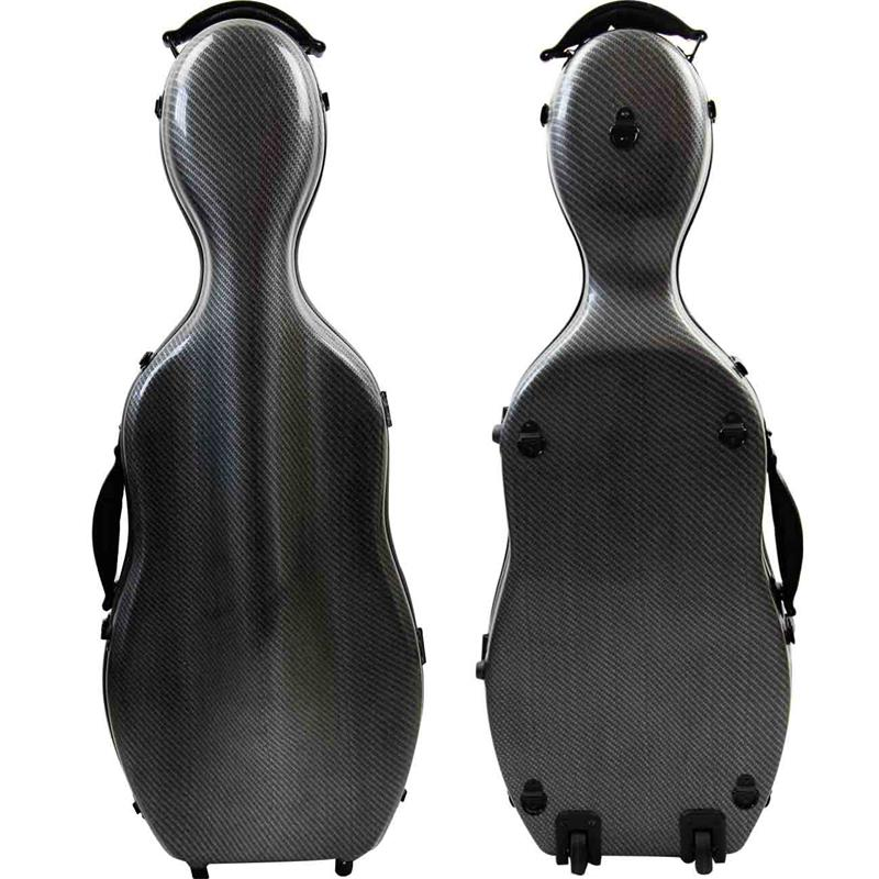 New Light High Quality Composite Carbon Fiber 15-17 Viola  Case Adjustable Viola Case Bow Holders & Straps Parts Accessory one viola bow plaid carbon fiber round