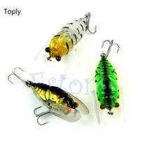 TOPLY 1Pc Fishing Lures Bass Cicada Baits CrankBait Floating Rattles Treble Hooks 6 4g LH07s