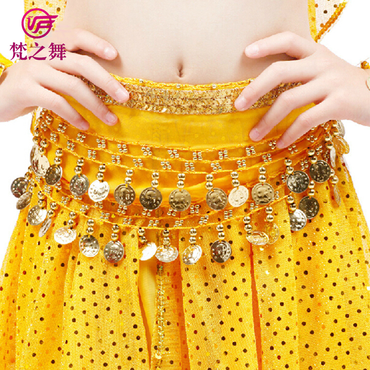 ET-126 Egyptian practice chiffon kids belly dance clothes suit with size S M L for sale