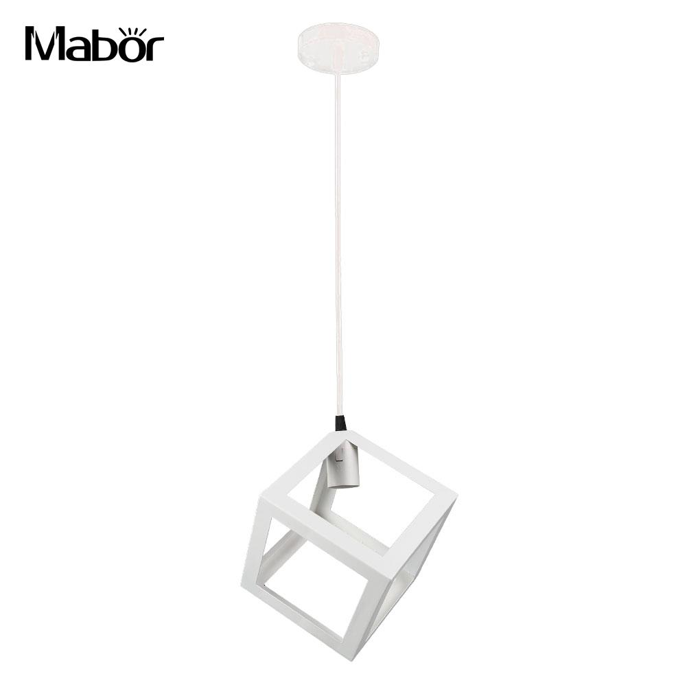 Us 14 28 20 offe27 bulb cage guard ceiling square lamp shade for home light fitting bar w cable in lamp covers shades from lights lighting on