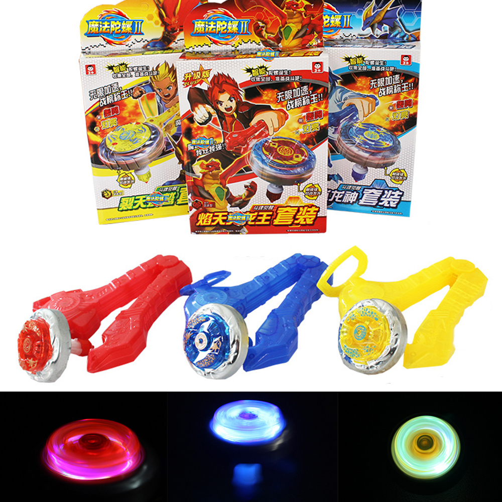 Beyblade Burst Beybleyd Spinning LED Top Set Metal Fusion 4D Launcher Kids Game Toys Gift for Children