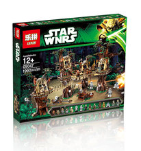 2016 New LEPIN 05047 1990Pcs Star Wars Ewok Village Model Building Kits Minifigure Blocks Bricks Compatible Children Toy 10236