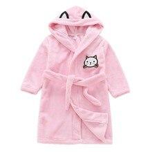 085bb90d1d Cartoon Kids Robes Flannel Boys Girls Robes Hooded Pajamas Bath Robe Long  Sleeve Baby Toddler Bathrobe Children Clothing JW4144C