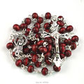 Perfume wood bead rosary 6 mm round red wooden bead religious rosary